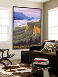 Columbia River Gorge Scene with Crown Point Wall Mural by  Lantern Press