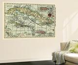 Cuba - Panoramic Map Wall Mural by  Lantern Press