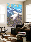 Mountain Goats Scene, Glacier National Park, Montana Wall Mural by  Lantern Press