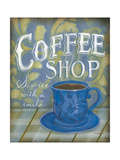 Coffee Shop Poster by Kim Lewis