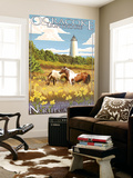 Ocracoke Lighthouse - Outer Banks, North Carolina Wall Mural by  Lantern Press
