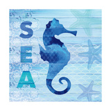 Sea Glass Seahorse Prints by  Studio Bella
