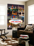 Las Vegas Casinos and Hotels Montage Wall Mural by  Lantern Press