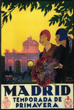 Madrid, Spain - Madrid in Springtime Travel Promotional Poster Wall Mural by  Lantern Press