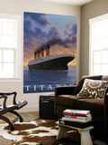 Titanic Scene - White Star Line Wall Mural by  Lantern Press