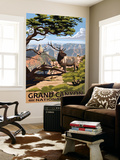 Grand Canyon National Park - Elk & Point Imperial Wall Mural by  Lantern Press