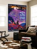La Route Des Alpes Vintage Poster - Europe Wall Mural by  Lantern Press