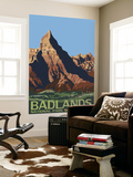 Badlands National Park, South Dakota Wall Mural by  Lantern Press