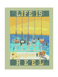 Life Is Reel Premium Giclee Print by Jim Baldwin