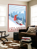 Snowboarder Scene, Lake Tahoe, California Wall Mural by  Lantern Press