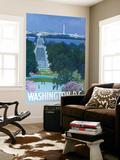 Washington DC, Arlington National Cemetery Wall Mural by  Lantern Press