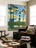 Bodie Island Lighthouse - Outer Banks, North Carolina Wall Mural by  Lantern Press