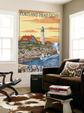 Portland Head Light - Portland, Maine Wall Mural by  Lantern Press
