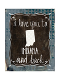 Indiana and Back Print by Katie Doucette