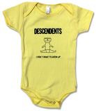Infant: Descendents- I Don't Want To Grow Up Onesie Tutina neonati