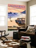 Laguna Beach, California - Woody on Beach Wall Mural by  Lantern Press