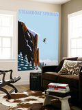 Skier Jumping - Steamboat Springs, Colorado Wall Mural by  Lantern Press
