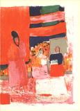 Mexique (Lg) Serigraph by Bernard Cathelin