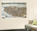 Charleston, South Carolina - Panoramic Map Wall Mural by  Lantern Press