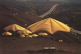 Yellow Umbrellas-Calafornia, USA Site II Collectable Print by Javacheff Christo