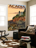 Acadia National Park, Maine - Bass Harbor Lighthouse Wall Mural by  Lantern Press