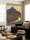 The Watchman, Zion National Park, Utah Wall Mural by  Lantern Press
