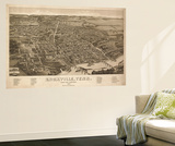 Knoxville, Tennessee - Panoramic Map Wall Mural by  Lantern Press
