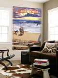 Carmel Beach, California - Sunset Beach Scene Wall Mural by  Lantern Press