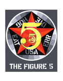 The Figure Five Serigraph by Robert Indiana