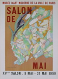 XVieme Salon de Mai Serigraph by Jacques Villon