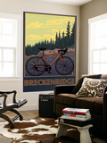 Breckenridge, Colorado - Mountain Bike Wall Mural by  Lantern Press