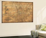 Cincinnati, Ohio - Panoramic Map Wall Mural by  Lantern Press