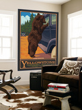 Don't Feed the Bears, Yellowstone National Park, Wyoming Wall Mural by  Lantern Press