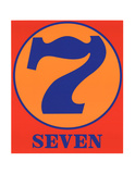 Seven Serigraph by Robert Indiana
