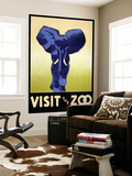 Visit the Zoo - Elephant Charging Wall Mural by  Lantern Press