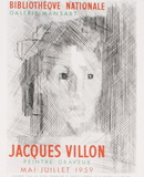 Bibliotheque Nationale Serigraph by Jacques Villon
