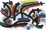 Lithograph I, Number IX Serigraph by Joan Miro