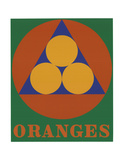 Oranges Serigraph by Robert Indiana