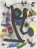 Young woman with butterflies Serigraph by Joan Miro