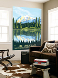 Mount Shuksan - North Cascades National Park, WA Wall Mural by  Lantern Press