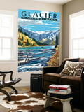 Avalanche Lake - Glacier National Park, Montana Wall Mural by  Lantern Press