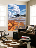 Castle Geyser - Yellowstone National Park Wall Mural by  Lantern Press