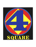Polygon: Square (Four) Serigraph by Robert Indiana