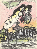 The Sky from the Place de la Concorde Serigraph by Marc Chagall