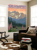 Spring Flowers, Olympic National Park Wall Mural by  Lantern Press