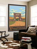 Park Entrance Arch, Yellowstone National Park, Wyoming Wall Mural by  Lantern Press