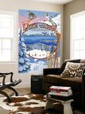 Lake Tahoe, CA Winter Views Wall Mural by  Lantern Press