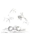 Fleurs Serigraph by Alberto Giacometti