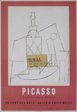 Galerie Lucie Weill Serigraph by Pablo Picasso