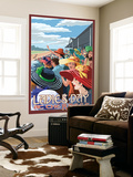 Kentucky - Ladies Day at the Track Horse Racing Wall Mural by  Lantern Press